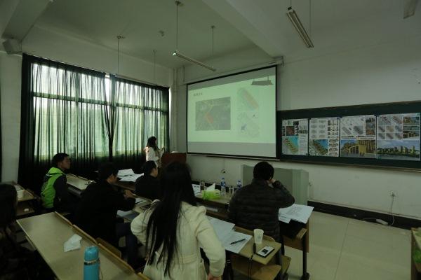 建筑学专业举办居住区规划课程设计作业汇报展